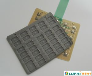 Rubber Keypad Overlay Tactile Metal Domes Membrane Switch (MIC0873) pictures & photos