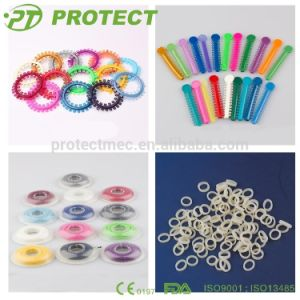 Protect Orthodontic Dental Elastic Colorful Ligature Tie with CE pictures & photos