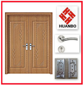 2014 MDF PVC Wooden Interior Double Gate Entry Door Hb-150