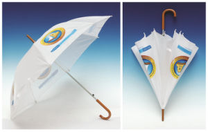 Auto Open Advertising Wood Handle Straight Umbrella (SK-009) pictures & photos