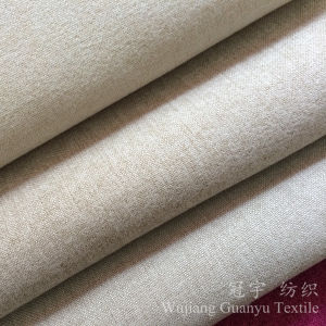 Linen Look Linen Touch Polyester Sofa Fabric for Interior Decoration pictures & photos