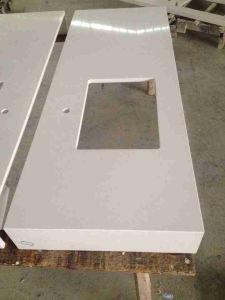 Popular Ice White Engineered Quartz Stone for Kitchen Countertop pictures & photos