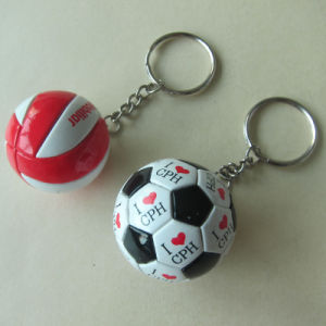 Ball Key Ring, Custom Cute PVC Ball Key Chain pictures & photos