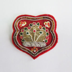 Customized Garment Accessories Embroideried Pin Patches pictures & photos