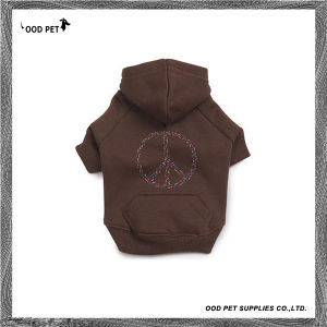 Love Peace Dog Sweatshirt Cotton Dog Hoodie Sph6014 pictures & photos