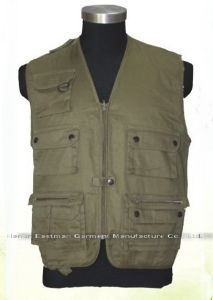 Canvas Workwear Outdoor Fishing Vest pictures & photos
