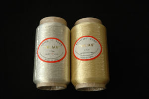 600d Cotton Viscose Polyester Pure Silver Lurex Yarn (S-46) pictures & photos
