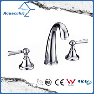 Modern Three Hole Bathroom Basin Faucet (AF3011-6A) pictures & photos