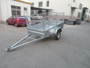 Australia Galvanized Tandem Utility Tipping Cage Box Trailer pictures & photos