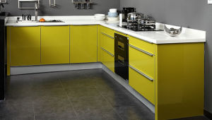 Modern High Gloss UV Kitchen Cabinet (UV-001) pictures & photos