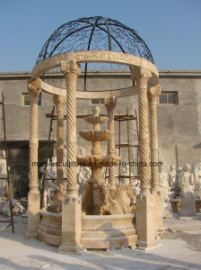 Egypt Cream Beige  Qu Yang Stone Sculpture Marble Gazebo (SY-G015) pictures & photos