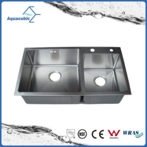 Modern Hand Made Kitchen Stainless Steel Sink (AS8245R) pictures & photos
