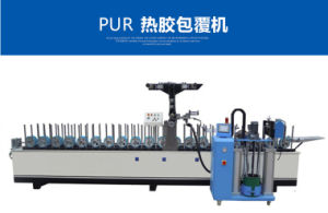 Aluminium/ PVC /Pur / Paper/ Film/ Melamine/ Wood Door Profile Hot Glue Melt Wrapping Machine pictures & photos