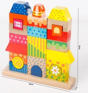 Wood Shape Sorter Blocks Baby Lovely Toy