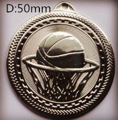 Metal Sport Badge with Embossed Basketball (FCd6524)