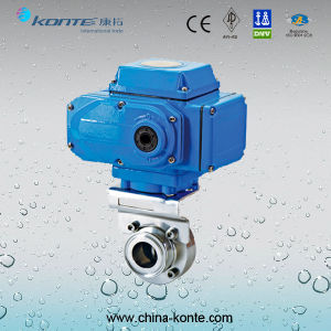 Electric Sanitary Butterfly Valve on-off Type pictures & photos