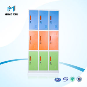 Luoyang Mingxiu Practical Colourful Office Furniture 9 Door Steel Hanging Clothes School Locker pictures & photos