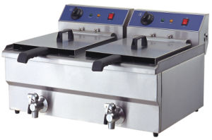 Electric Deep Fryers for Chiken with Oil Outlet pictures & photos