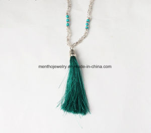 Hot Sale Fashion Accessories Tassel Pendant Beads Necklace for Girls 5colors pictures & photos