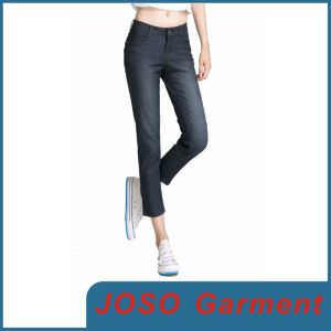 MID Waisted Denim Stretch Skinny Cropped Jeans (JC1054) pictures & photos