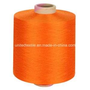 100% Polyester Yarn DTY Low Elastic with 600d/192f Him Orange pictures & photos
