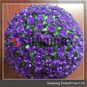 Plastic Purple Rose Flower Ball Plastic Grass Ball pictures & photos