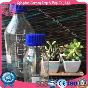 Laboratory Graduated Borosilicate Reagent Bottle with Blue Cap pictures & photos