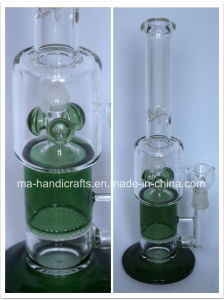 Green Swirl Honey Comb Perc Glass Water Pipes for Smoking pictures & photos