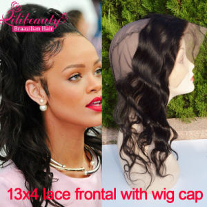 8A Grade Unprocessed Brazilian Lace Frontal Closure 13X4 360 Lace Band Frontals with Cap with Adjust Strap 360 Lace Frontal pictures & photos