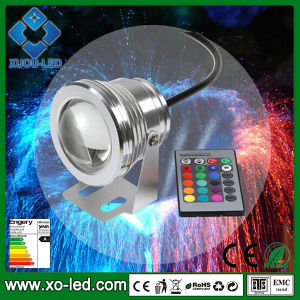 10W 1000lm High Power LED IP65 DC12V LED Underwater Light CE RoHS Approved Underwater Fountain RGB LED Light