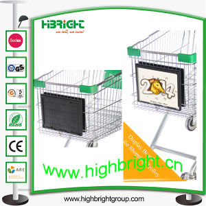 Plastic Shopping Cart Advertising Frame pictures & photos
