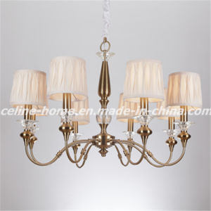 Iron Chandelier Lamp with Fabric Shade (SL2073-8) pictures & photos