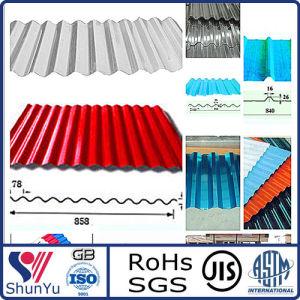 Blue Coated Corrugated Aluminium Sheet