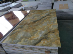 UV Coated Marble Sheet Wall Panel Interior Decoration Board pictures & photos
