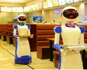 Dishes Delivering Restaurant Robot for Restaurant pictures & photos