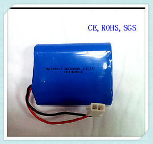 Lithium Ion 18650-2600mAh 11.1V for Mobile Power Bank, Protable Charger, Lithium Battery Pack