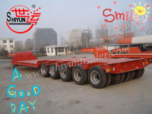 Low Bed Heavy Duty Flat Bed Truck Trailer