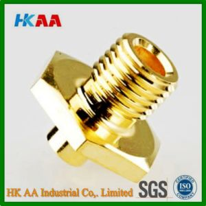 CNC Swiss Machining Brass Threaded Pneumatic Fitting pictures & photos
