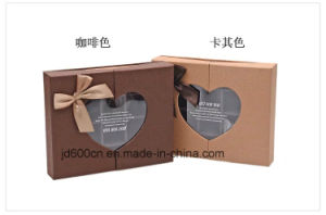 Elegant Paperboard Chocolate Box with Transparent Window pictures & photos