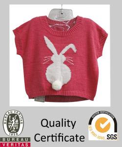 Children Knitted Dolman Sleeve Rabbit Designed Intarsia Sweater