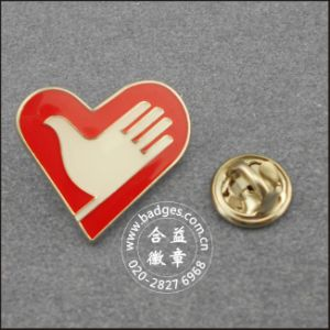 Heart Shape Volunteer Badge, Custom Lapel Pin (GZHY-LP-092) pictures & photos