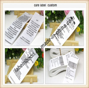 Garment Care Label Nylon Taffeta Material (NT2109) pictures & photos