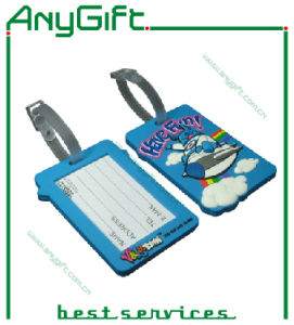 Soft PVC Luggage Tag with Customized Logo pictures & photos