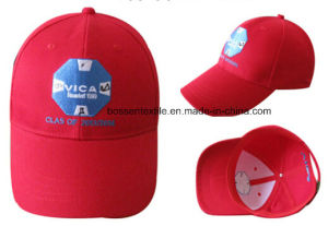 Promotion Custom Red Embroidery Adjustable Baseball Cap Sun Cap Travel Cap Outdoor Sport Hat pictures & photos