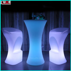 Outdoor Polyethelene LED Furniture Illuminated LED Lighting Table Chair pictures & photos