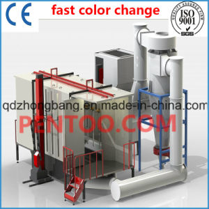 High Quality Powder Coating Booth with Quick Color Change pictures & photos