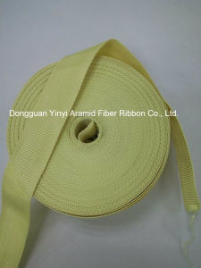 25mm Yellow Aramid Fiber Webbing for Industry pictures & photos