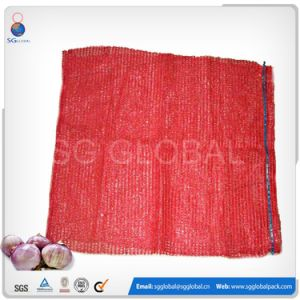 25kg Red Raschel Bag for Packaging Onion and Potato pictures & photos