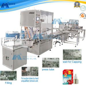 Automatic Linear Liquid Filling Production Line pictures & photos