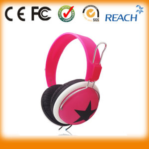 Good Quality Star Stereo Headset Headphone Mix Style Colorful Headphone pictures & photos